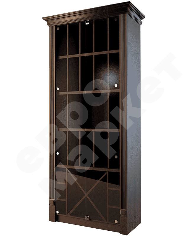 Шкаф для элитного алкоголя со стеклянными дверцами и секциями LD 006-CT