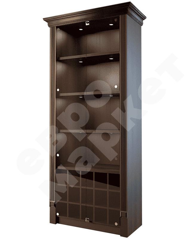Шкаф для элитного алкоголя со стеклянными дверцами и отдельными секциями LD 005-CT