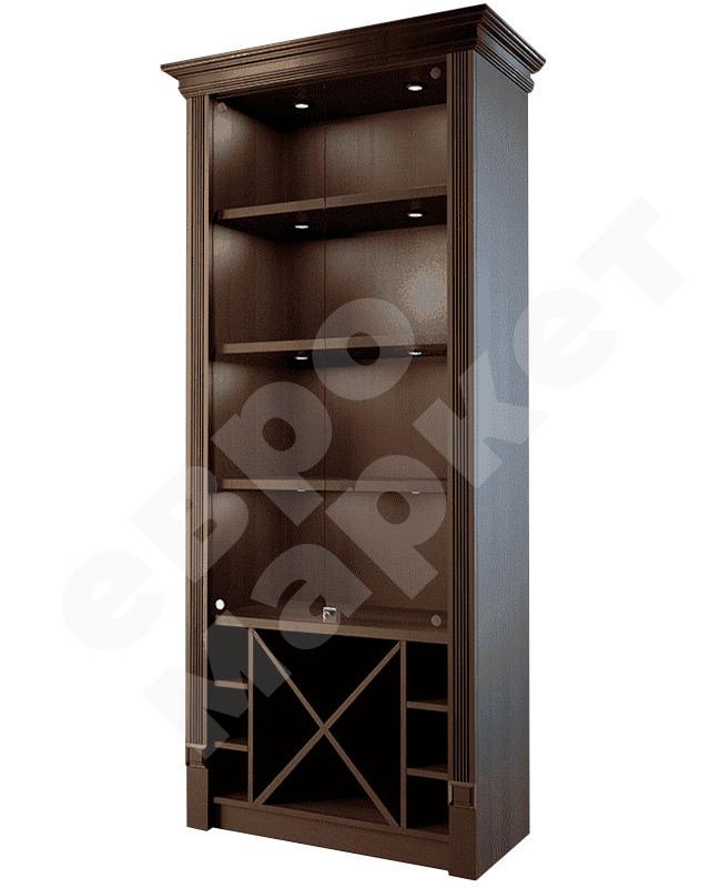 Шкаф для элитного алкоголя со стеклянными дверцами и секциями LD 004-CT