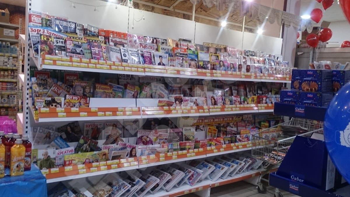Стеллаж для торговли журналами и газетами без фриза