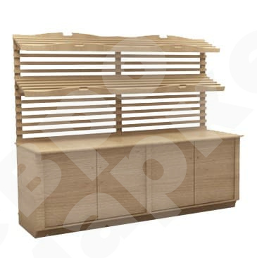 Витрина для хлеба пристенная с ящиками