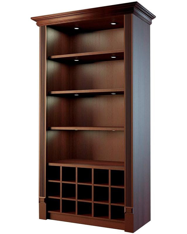 Шкаф для дорогого алкоголя с фризом и подсветкой LD 005