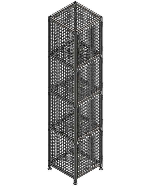 Сумочный шкаф для вещей в магазине 12 ячеек