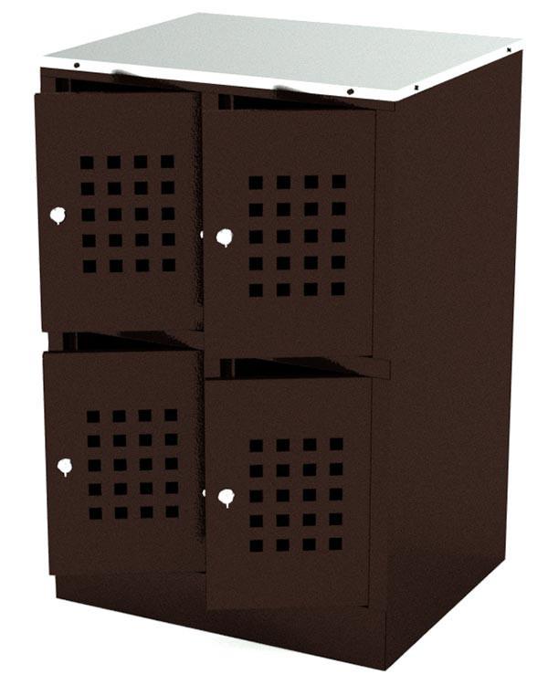 Шкафчик для сумок на 4 ячейки