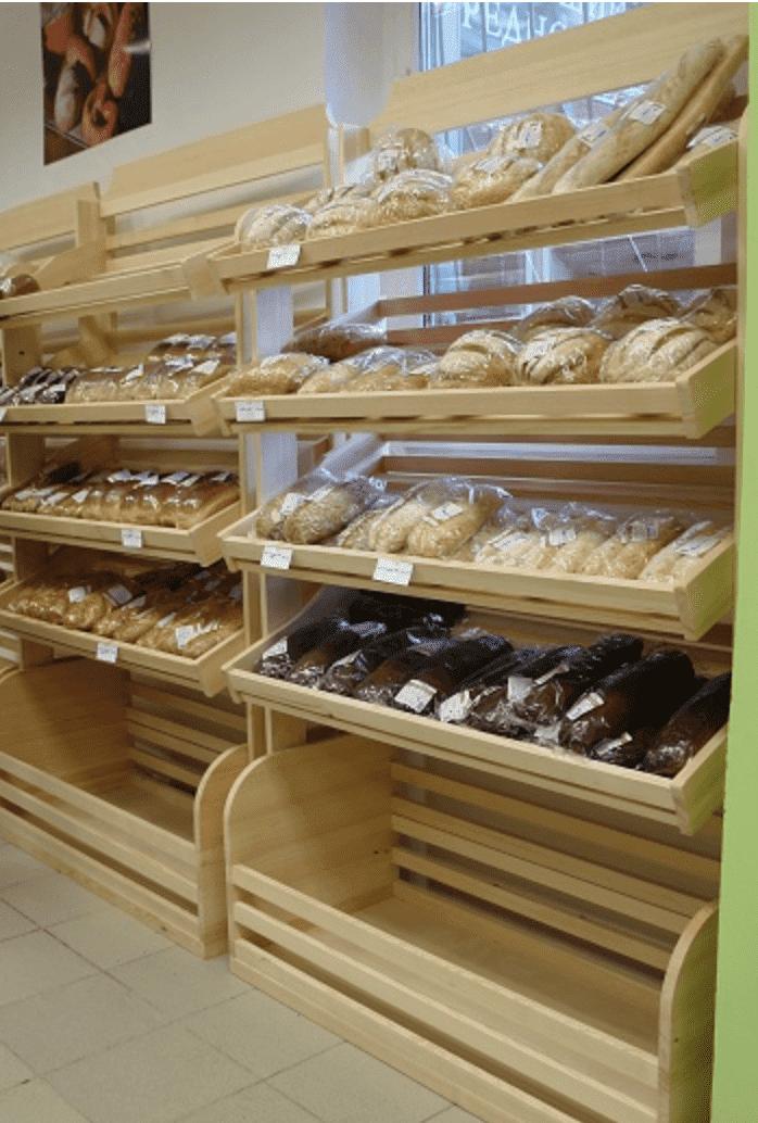 Стеллаж для хлеба рядный
