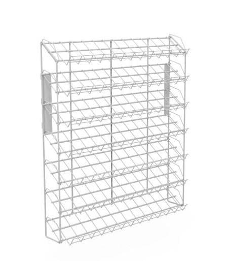 Наклонный блок 7 полок с кронштейнами (ДхГхВ) 660х100х740