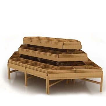 Система деревянных развалов островная
