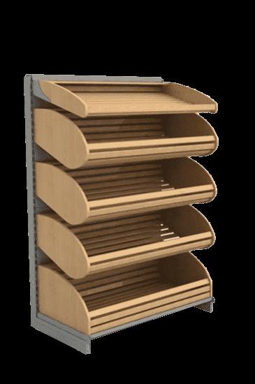 Торговый стеллаж для хлеба компактный