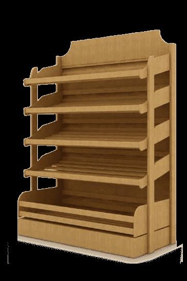 Стеллаж для хлеба облегченный рядный широкий